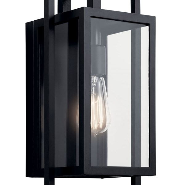 "Goson™ 16"" 1 Light  Wall Light with Clear Glass Black"