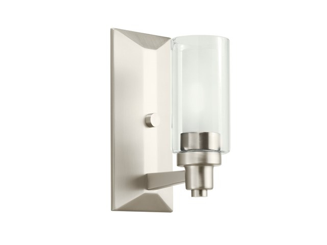 Circolo 1 Light Wall Sconce Brushed Nickel