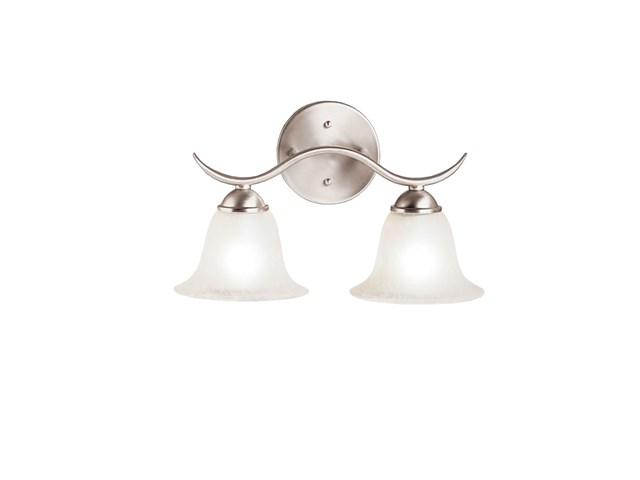 Dover 2 Light Vanity Light Brushed Nickel