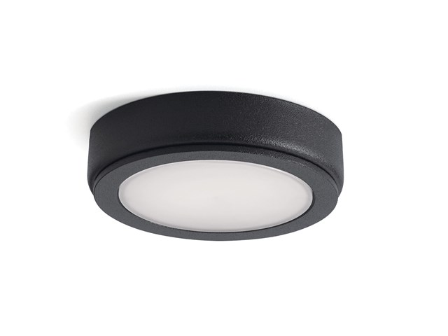 6D Series 24V 3000K LED Disc Textured Black