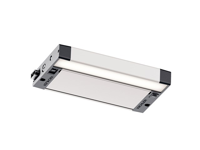 "6U 8"" 2700K/3000K LED Cabinet Light Textured Nickel"