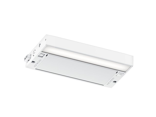 "6U 8"" 2700K/3000K LED Cabinet Light Textured White"