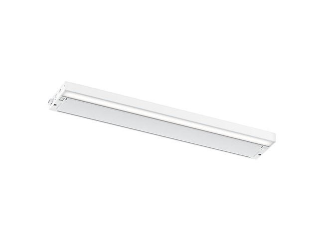 "6U 22"" 2700K/3000K LED Cabinet Light Textured White"