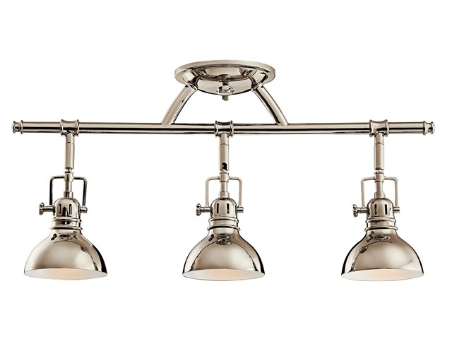 Hatteras Bay 3 Light Halogen Fixed Rail Light Polished Nickel™