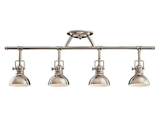 Hatteras Bay 4 Light Halogen Fixed Rail Light Polished Nickel™