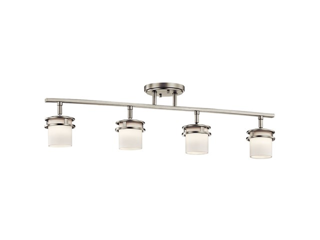 Hendrik 4 Light Rail Light Brushed Nickel