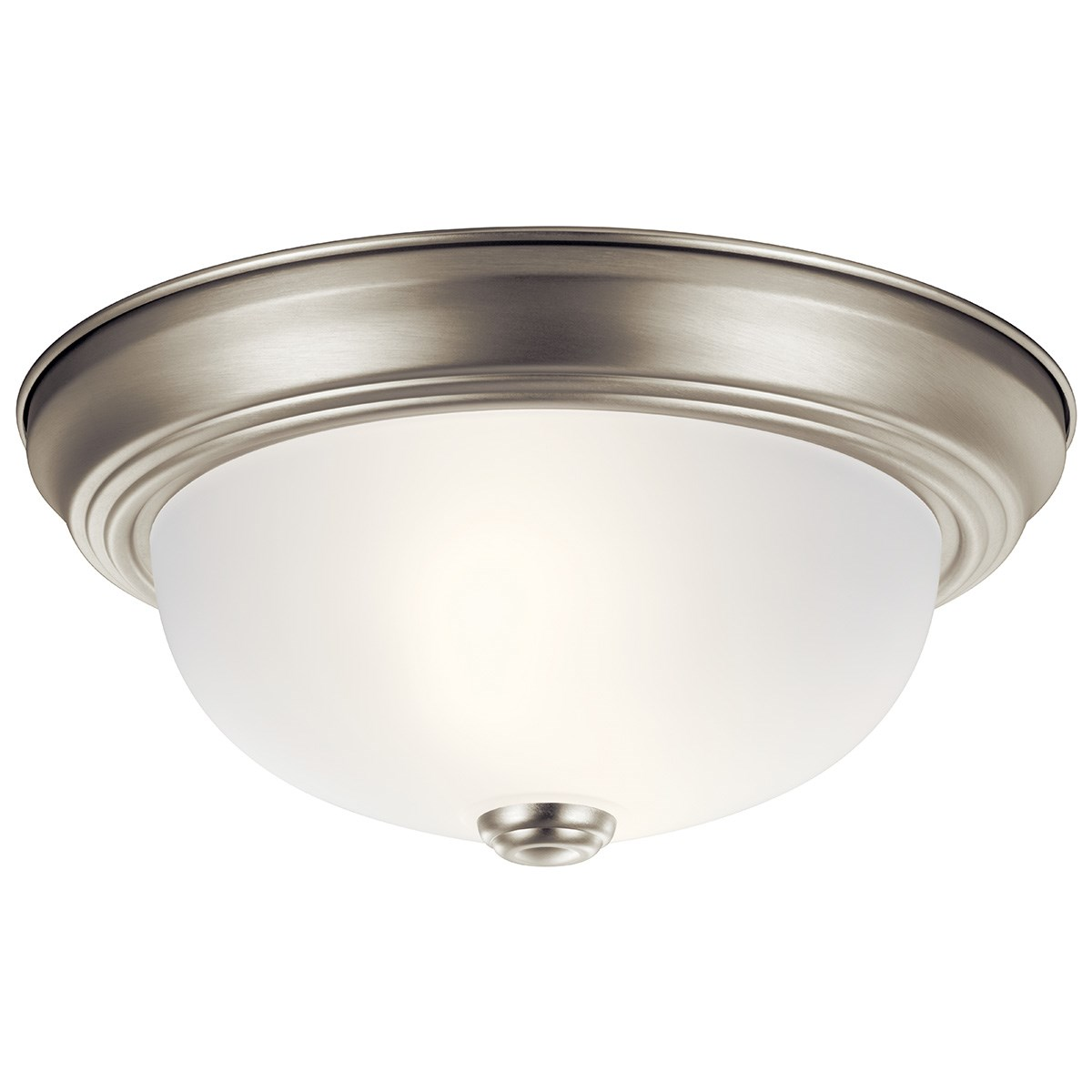 "11.25"" 2 Light Flush Mount Brushed Nickel"