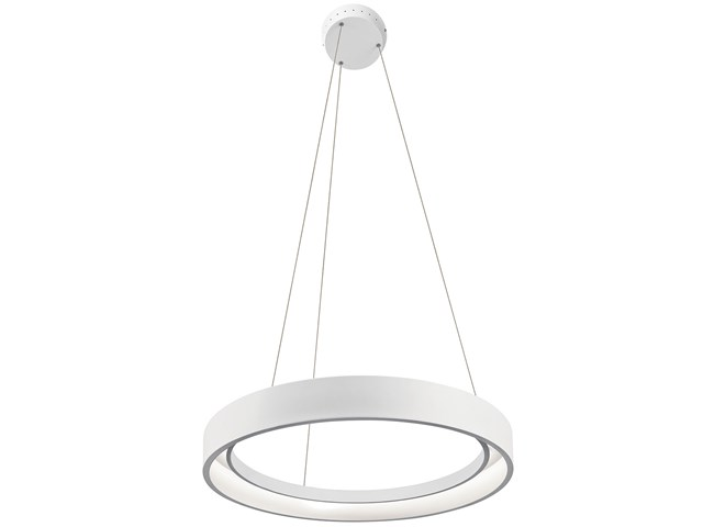 "Fornello™ 23.5"" LED Pendant Textured White"