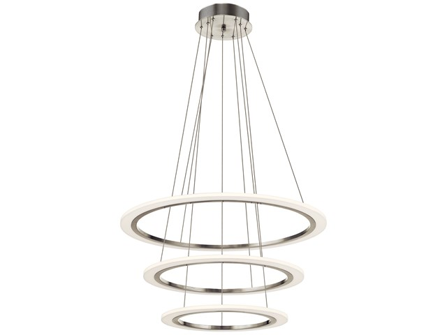 Hyvo™ 3 Ring LED Pendant Brushed Nickel