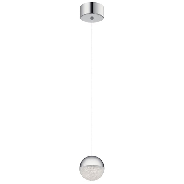 "Moonlit 4.75"" 1 Light LED Mini Pendant Chrome"