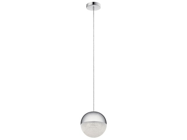 "Moonlit 7.75"" 1 Light LED Mini Pendant Chrome"