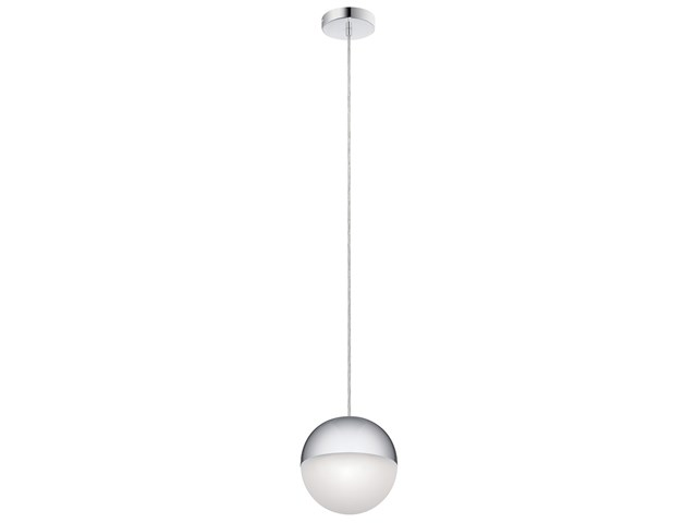 "Moonlit LED 3000K 7.75"" Pendant Chrome with White Glass"