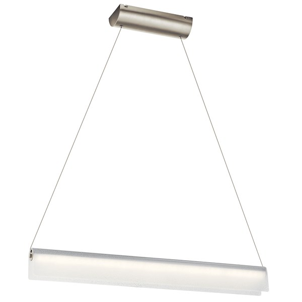 "Rainfall 36"" LED Linear Pendant Brushed Nickel"