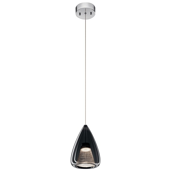 Zin™ 1 Light Teardrop Mini Pendant Chrome