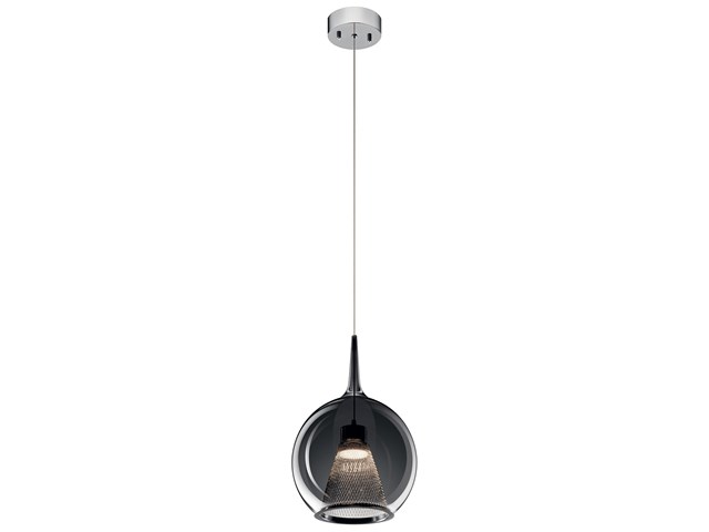 Zin™ 1 Light Round LED Mini Pendant Chrome