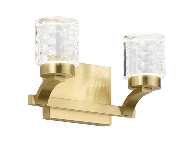 Rene 3000K LED 2 Light Vanity Light Champagne Gold