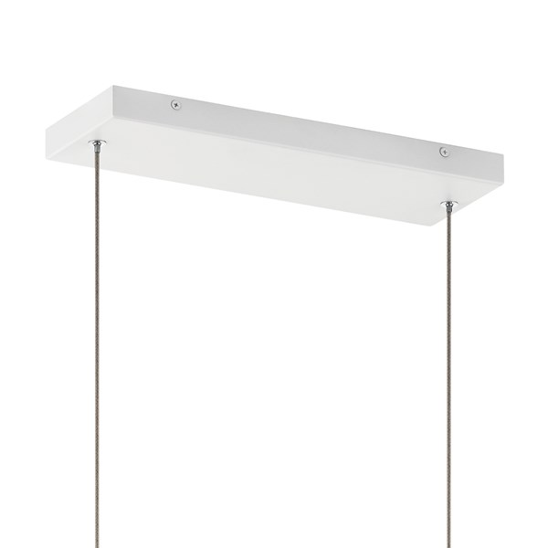 "Vega LED 3000K 38"" Linear Chandelier White"