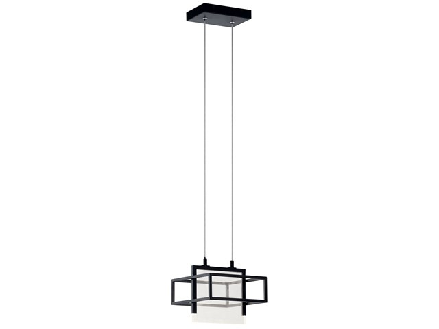 Vega 1 Light LED Mini Pendant Matte Black