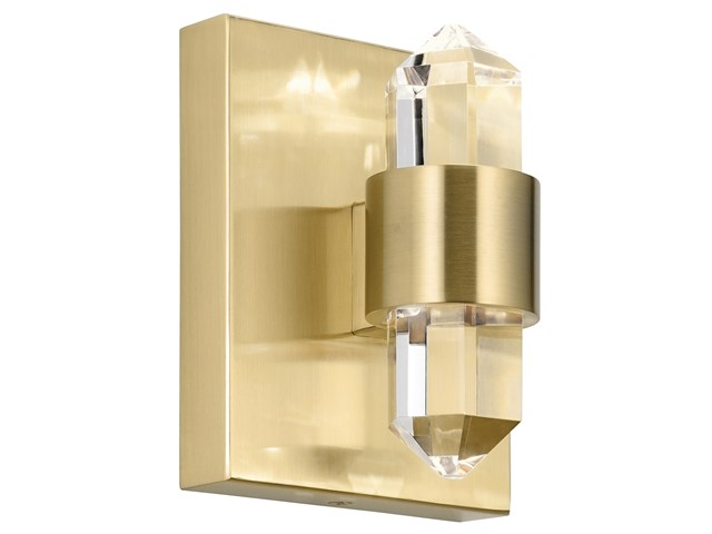 Arabella 3000K LED 2 Light Wall Sconce Champagne Gold
