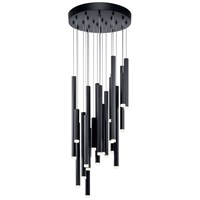Soho 24 Light Pendant Cluster Black