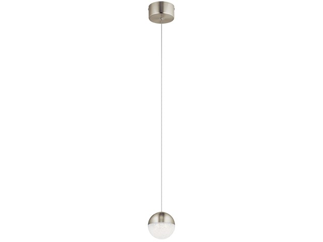 "Moonlit 4.75"" 1 Light LED Mini Pendant Brushed Nickel"
