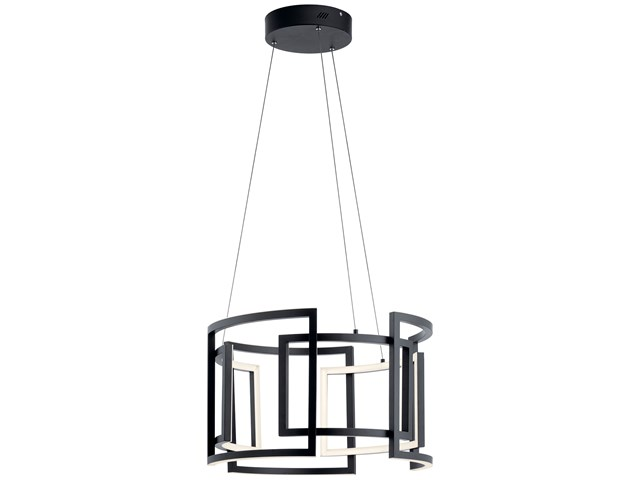 "Melko™ 23.5"" LED Round Pendant Black"