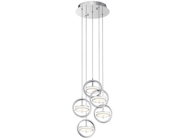 Baylin™ 5 Light Pendant Cluster Chrome