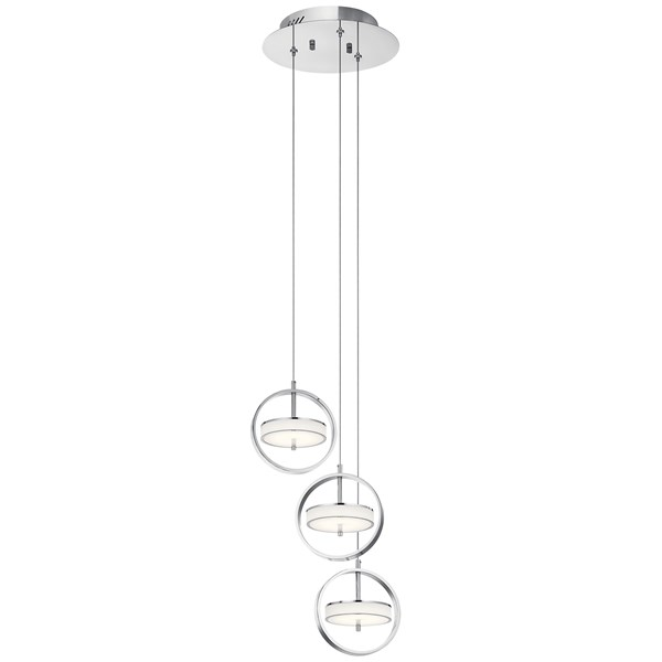 Baylin™ 3 Light Pendant Cluster Chrome