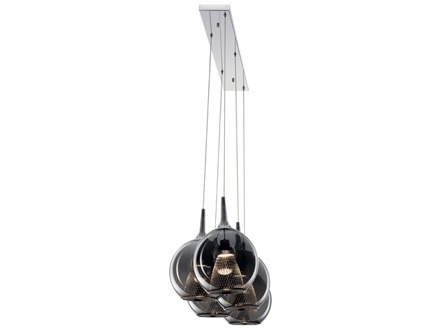 Zin™ 5 Light Linear Pendant Cluster Chrome