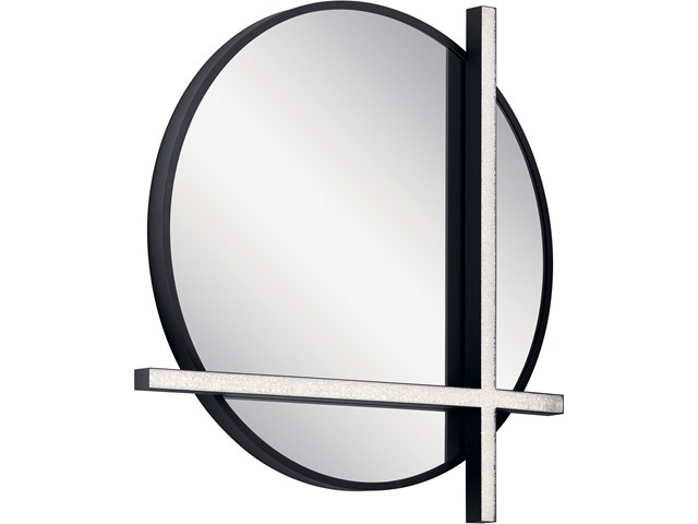 Kemena™ LED Lighted Mirror Matte Black