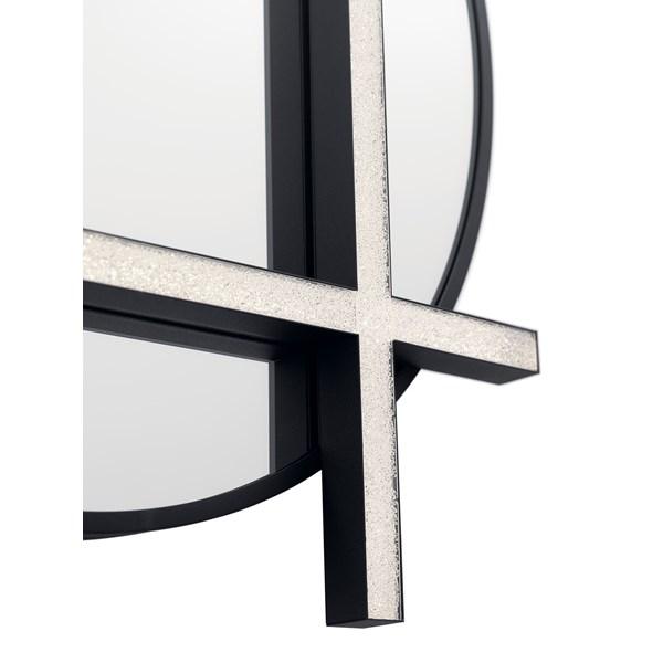 Kemena Led Lighted Mirror Matte Black Kichler Lighting