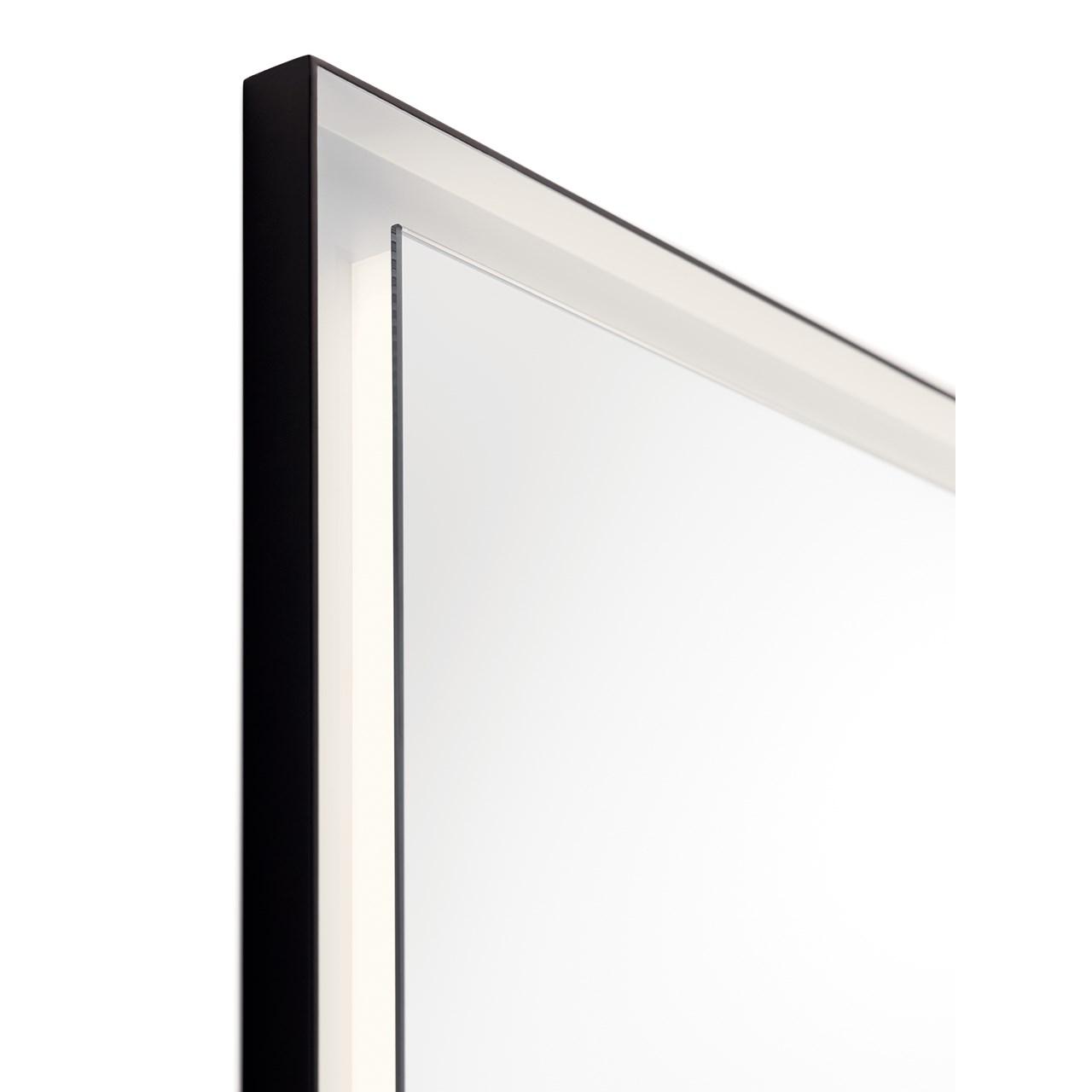 Ryame 24 Quot Lighted Mirror Black Kichler Lighting