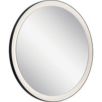 Ryame™ Round Lighted Mirror Black