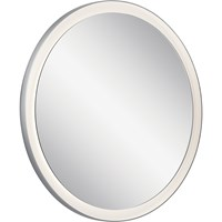 Ryame™ Round Lighted Mirror Silver