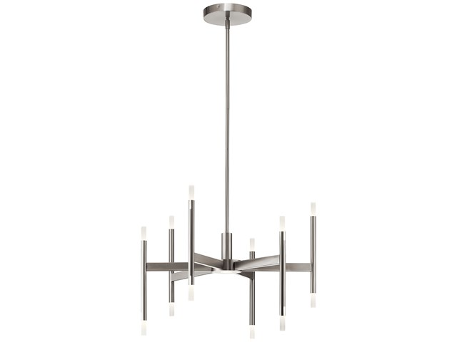 Kizette™ Small LED Chandelier Brushed Nickel