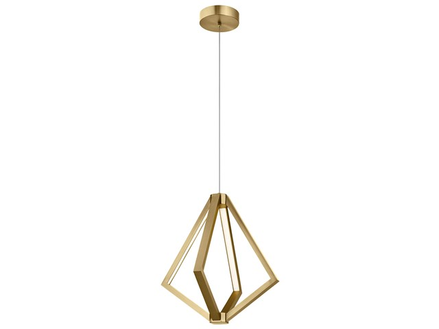 "Everest 19.75"" Small LED Pendant Champagne Gold"