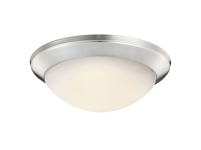 "Ceiling Space 14"" 1 Light Flush Mount Brushed Nickel"