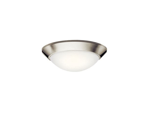 "Ceiling Space 16.5"" 2 Light Flush Mount Brushed Nickel"