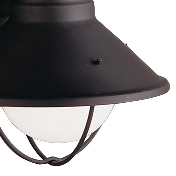 "Seaside™7.5"" 1 Light Outdoor Wall Light with Glass Globe Black"