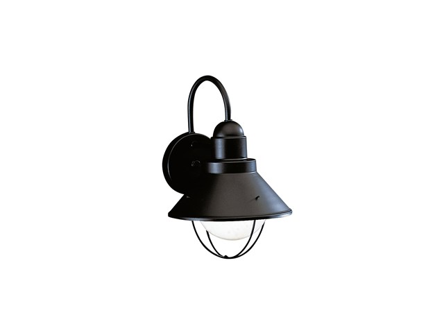 "Seaside™12"" 1 Light Outdoor Wall Light Black"