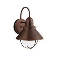 "Seaside™12"" 1 Light Outdoor Wall Light with Glass Globe Olde Bronze®"