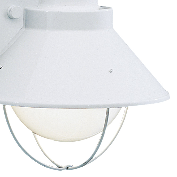"""White Kichler 9022WH Seaside 1-Light 12/"""" Tall Outdoor Wall Sconce"""