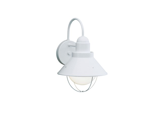 "Seaside™ 12"" 1 Light Outdoor Wall Light White"