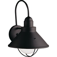 "Seaside™14.25"" 1 Light Wall Light Black"