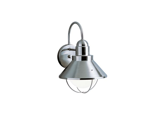 "Seaside™14.25"" 1 Light Outdoor Wall Light Brushed Nickel"