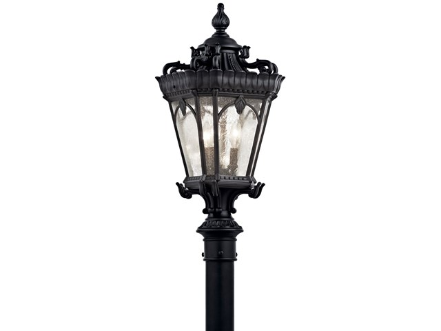 Tournai™ 3 Light Post Light Textured Black