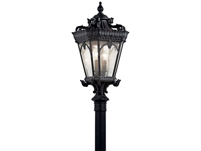 "Tournai™ 30"" 4 Light Post Light Textured Black"