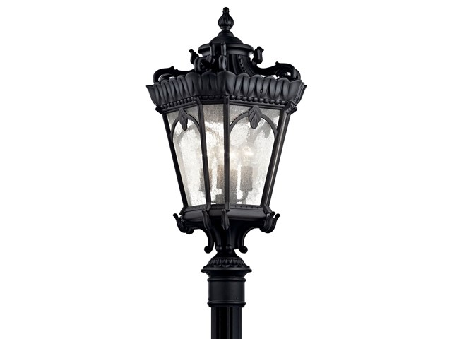 "Tournai™ 37.5"" 4 Light Post Light Textured Black"