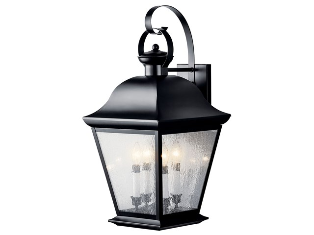 Mount Vernon 4 Light Wall Light Black