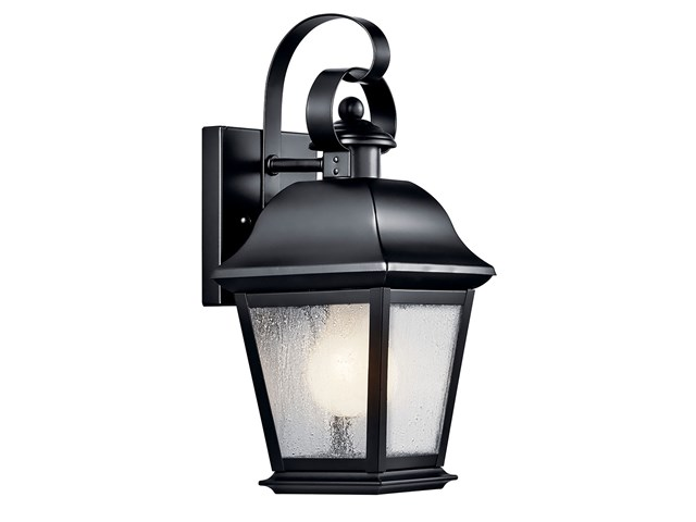 "Mount Vernon 12.5"" 1 Light Wall Light Black"